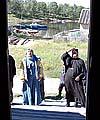 У парадного входа на верфь. 30 июля 2005 г.