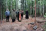 Благодарственный молебен после завершения раскопок
