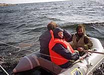 Поход членов ТСМ на остров Топ. Высадка. Август 2002 г.