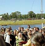 Освящение Петровской часовни Святейшим патриархом Алексием II 21 августа 2001 г. (после ее реставрации)