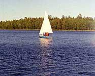 Швертбот СМК на Святом озере. 2002 г.