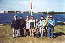 Призеры соревнований СМК с судьями Б.Н.Розовым и В.В.Щербаком. 2002 г
