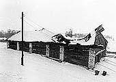 Монастырский амбар для гребных судов (XIX в.) до реконструкции. 1988 г.