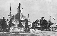 Илл.6. Онуфриевская кладбищенская церковь на Соловках. Открытка УСЛОНа