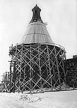 Реставрация Белой башни. Фото 1960-х гг.