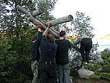 Установка креста на прежнее место