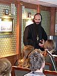 Выступает благочинный Соловецкого монастыря игумен Иануарий