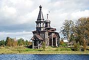 Церковь в Леликово на Малом Леликовском острове