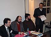 Открытие вечера старшим научным сотрудником дома Лосева В.П.Троицким (стоит)