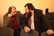 В.Матонин и директор московской школы «Интеллектуал» Е.В.Маркелов