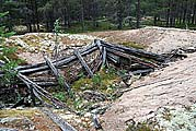 Полуземлянка времен лесозаготовок (1959 г.)