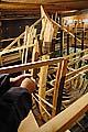 Вид с галереи на строящуюся яхту «Святой Петр»