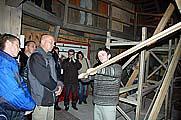 Бригадир судостроителей Александр Лапенко рассказывает о технологии строительства судна