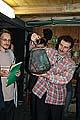 Первый подарок создающемуся музею - медный монастырский поплавок - держит в руках руководитель проекта Дмитрий Лебедев
