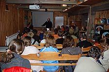 В лекционном зале музея. Июль 2009 г.