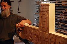 Георгий Кожокарь в своей мастерской. Сентябрь 2009 г. Фото С.Рапенковой