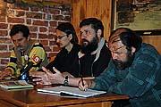 Пресс-конференция после открытия музея