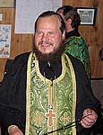 Наместник монастыря о.Иосиф на освящении Соловецкой верфи. 30 июля 2005 г.