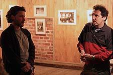 Автор выставки «На самом краю земли» Валерий Близнюк и Дмитрий Лебедев
