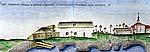 Илл.2. Вид Андреевского скита со стороны Малого Заяцкого острова. Рисунок 1790-х гг.