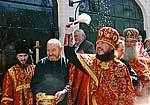 Крестный ход на московском подворье Соловецкого монастыря. Светлая седмица 2007 г.