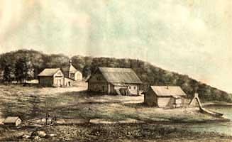 Исааковская пустынь. Литография 1884 г.