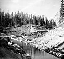 Строительство канала. Фото С.М.Прокудина-Горского. 1915 г.
