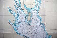 Карта Онежского озера