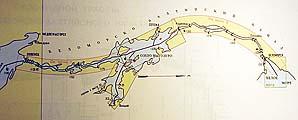 Карта Беломорско-Балтийского канала (ББК)