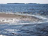 Дачный пригород Онеги. Вид на Кий-остров. Фото А.Лаушкина