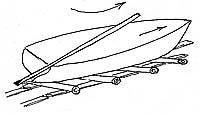 Илл. 8. Толкание лодки рычагом