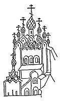 Преподобные Зосима и Савватий с монастырем в руках. Начало XVIII в.