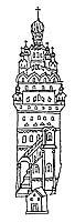 Обитель Зосимы и Савватия Соловецких чудотворцев. Выходная миниатюра лицевой рукописи Жития Зосимы и Савватия. Около 1600 г.