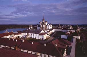 Вид монастыря с северо-западной стороны