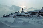 Соловецкий монастырь зимой 1969 г. Фото Б.В.Ведьмина