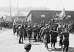 Праздничный парад в Медвежьей Горе. Фото 1930-х гг.
