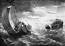 Петр Великий на Белом море. Гравюра. 1872 г.