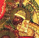 Истома Савин. Богоматерь Боголюбская с избранными святыми. Ок. 1600 г. ГТГ