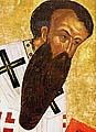 Св. Василий Великий. Фрагмент. Около 1497 г. Деисусный чин иконостаса Успенского собора Кирилло-Белозерского монастыря.