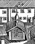 Илл. 1. Деревянная часовня прп. Германа на гравюре бр. Зубовых. 1744 г.