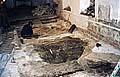 Илл. 7. Раскоп-1. В центре раскопа - яма 1926 г. на месте могилы прп. Германа. Ведется вскрытие могилы свт. Маркелла