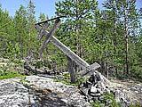 Старинный крест на горе