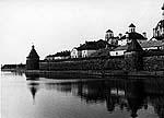 Вид на монастырь со Святого озера. Фото автора. 1956 г.