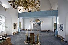 Илл. 15. Интерьер церкви. Вид на западную стену (после реставрации)