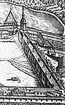 Илл. 7. Южный ряд келейной застройки после возведения ц. Филиппа. Фрагмент гравюры А. и И. Зубовых (после перегравировки)