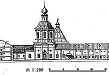 Илл. 9. Южный ряд периметральной застройки монастыря. Генеральный проект реставрации.