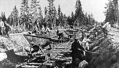 Строительство соловецкой железной дороги, 1928 г.