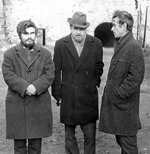 Е. Абрамов, А. Осипович, Ю. Чебанюк. Соловки, лето 1969-го.
