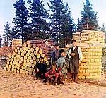 Пильщики на Свири, 1909 г. Фото С.М.Прокудина-Горского
