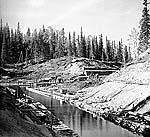 Строительство каналов между озерами, 1915 г. Фото С.М. Прокудина-Горского